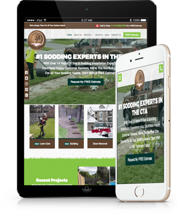 responsive website for my landscapers