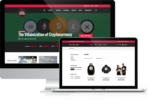 CryptoCanucks Desktop and Laptop View