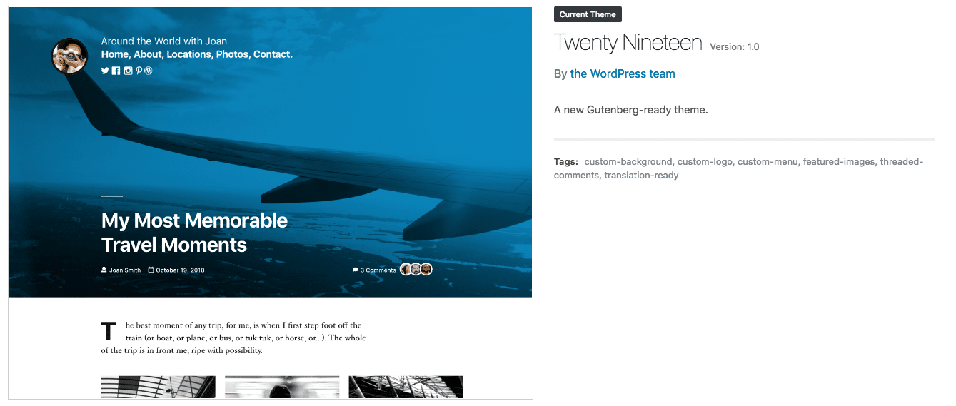 wordpress-5-twenty-nineteen-theme